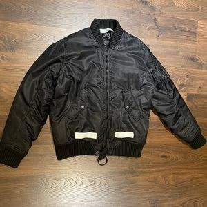 Off-White oversized winter bomber jacket